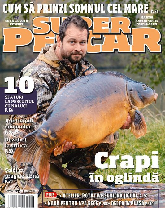 Coperta revistei Super Pescar Martie 2012