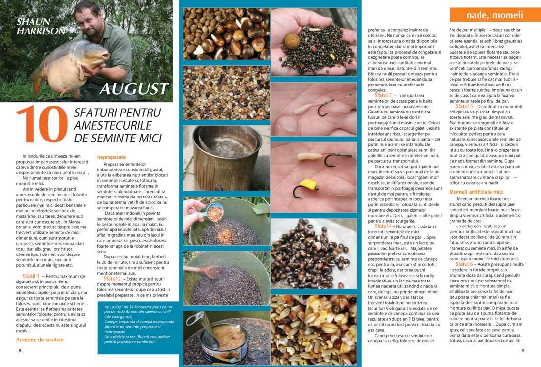 amestecuri de semințe pentru pescuitul la crap